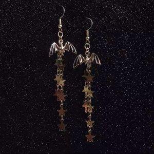 Jewelry - ARRIVED! Golden Vampire Bat Shooting Star Earrings